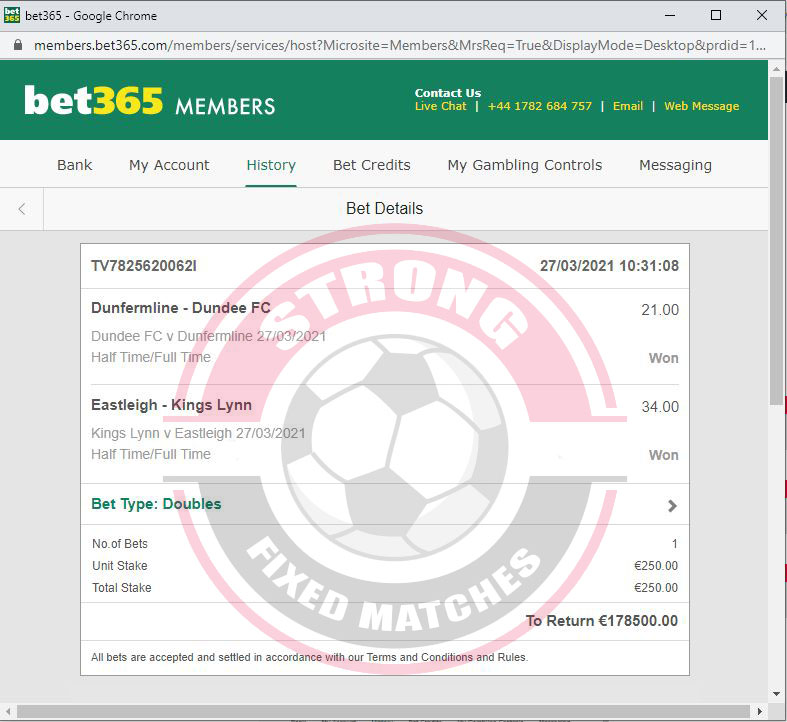 strong betting fixed matches