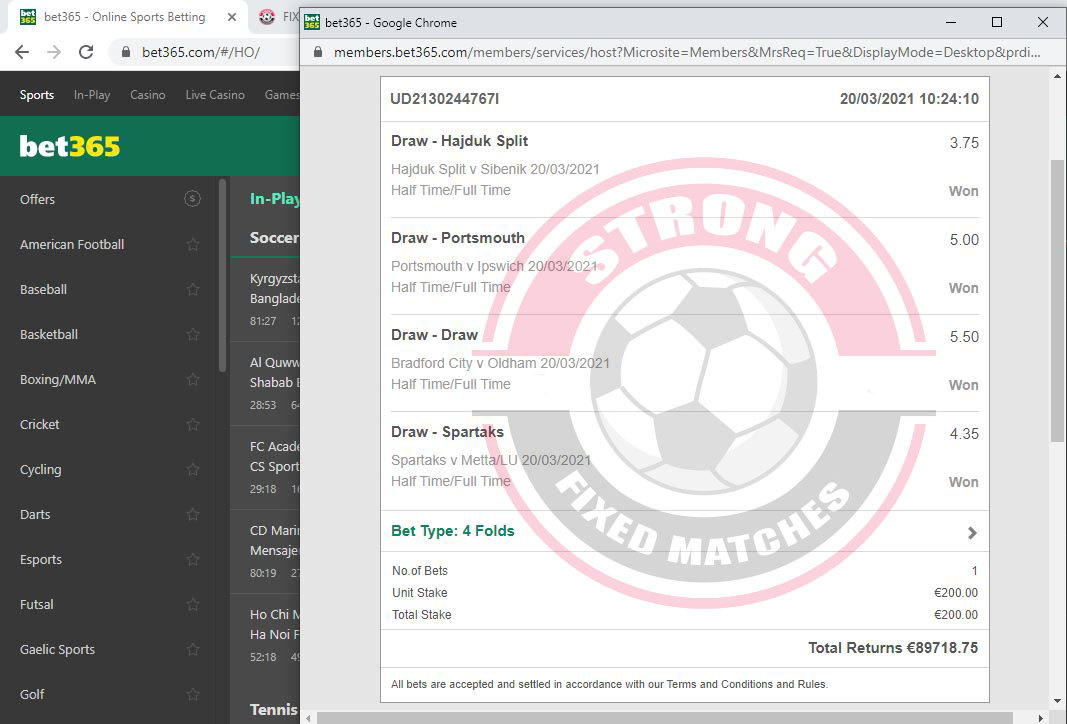 strong soccer fixed bet