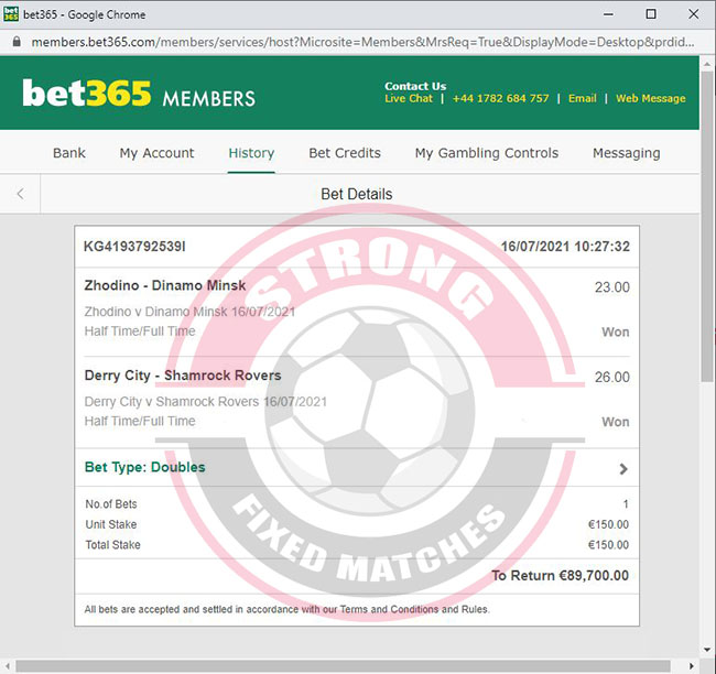 Strong Sure Fixed Matches